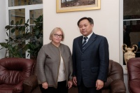 Minister-Counselor for Education from the Embassy of China in the Russian Federation Visits MSLU