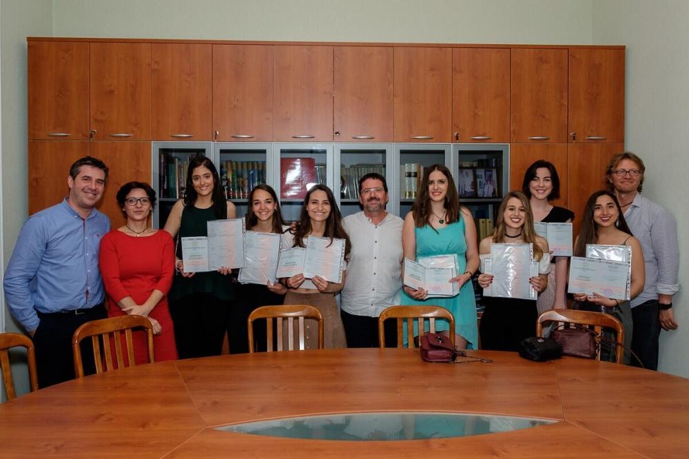 Вручение дипломов студентам Гранадского университета